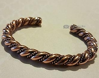 Large Twisted Copper Cuff Bracelet