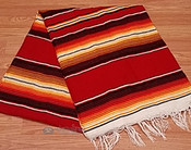 Southwest Fire Serape Blanket 5'x7' -Sunrise