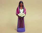 Southwestern Standing Maria With Flowers -Purple