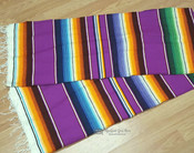 Southwest Serape Blanket 5'x7' -Purple