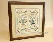 """Native American Framed Sand Painting 18""""-Mother/Father"""