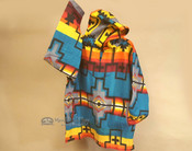 Southwestern Fleece Pullover Hoodie -Turquoise