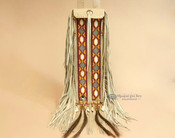 Tigua Pueblo Indian Elk Hide Pipe Bag 20""