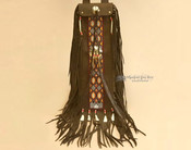 Tigua Pueblo Indian Buffalo Hide Pipe Bag 20""