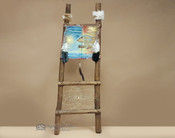 Hand Painted Hide Rack & Log Kiva Ladder -Spirit Bear