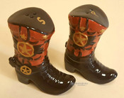 "Southwestern Salt & Pepper Shakers 5"" -Boots"