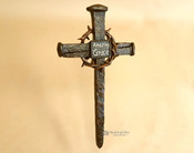 Rustic Western Style Wall Cross -Nail & Thorn