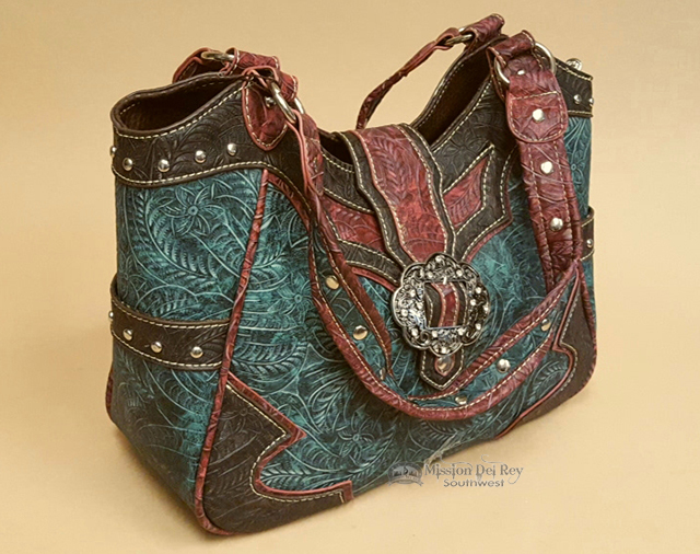 Rustic Designer Faux Leather Western Purse