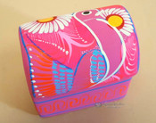 Hand Painted Clay Jewelry Box with Lid