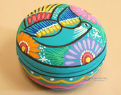 2 piece Hand Painted Southwestern Jewelry Box with lid