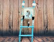 Hand Painted Hide Rack & Log Kiva Ladder -Kokopelli