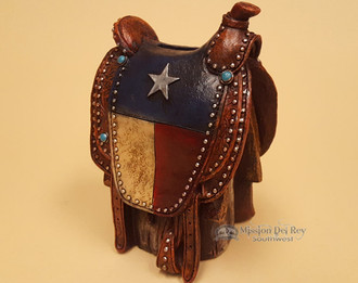 Western Style Texas Flag Saddle Stand