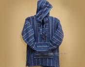 Primo Woven Baja Shirt Hoodie -Blue