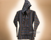 Primo Woven Baja Shirt Hoodie -Gray