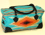 Native Southwest Weekend Rug Bag -Teal