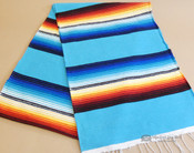 Southwestern Mexican Style Serape Table Runner -Turquoise
