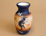 "Southwest Painted Pottery Vase 6"" - Kokopelli"