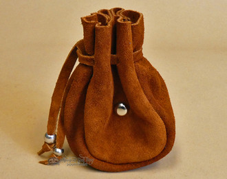 Rustic Native American Tigua Leather Medicine Pouch