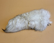 Super Soft Silver Fox Tail Key Fob