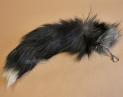 Blue Fox Tail with Keychain clip