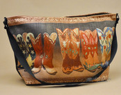 Western Art Cowgirl Purse -Boots