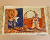 Western Cowboy Art Place Mat -Texas