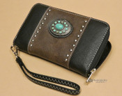 Southwestern Faux Leather Concho Wallet