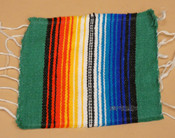 Southwestern Mexican Serape Coaster -Teal