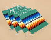 Southwestern Mexican Serape Coaster Set of 4 -Teal