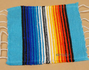 Southwestern Mexican Serape Coaster -Turquoise