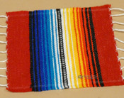 Southwestern Mexican Serape Coaster -Red