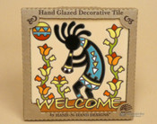 Southwestern Mexican Tile -Cream Kokopelli