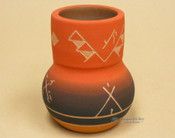 Lakota Sioux Red Clay Spirit Vase