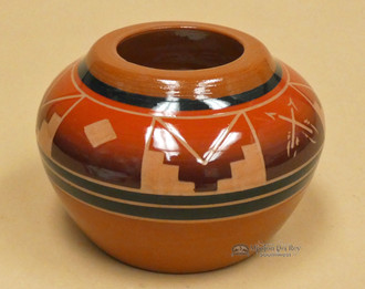 Red Clay Sioux Pottery Medicine Vase