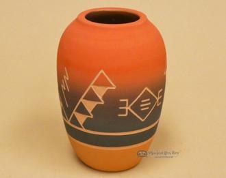 "Native American Red Clay Jar Vase 6.5"" -Lakota"