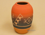 "Native American Red Clay Jar Vase 6.5"" -Lakota"