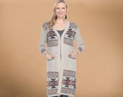 Southwestern Multi Color Cardigan Sweater - Extra Large