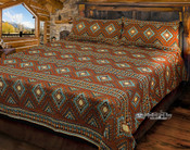 Queen Size Southwestern Woven Bedspread -Becenti Style