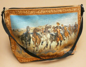 Western Cowboy Art Purse -Cattle Drive