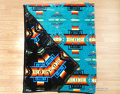 Native Style Heavy Velvet Fleece Blanket - Turquoise
