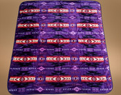 Southwestern Plush Blanket  -Purple