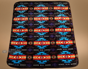 Southwestern Plush Blanket - Midnight Black