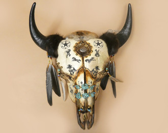 Dreamcatcher Buffalo Skull