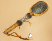 Navajo Beaded Turtle Shell Rattle
