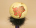 Creek Indian Gourd Rattle with Buffalo Etching