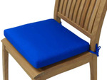 "Set of 6  - Large Dining Cushions in Sunbrella ""Pacific Blue"" - TAG216"