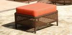 Woven rectangular ottoman and cushion, brand new, discontinued stock (java weave and Sunbrella® cushion) - STK12