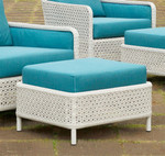 Woven rectangular ottoman, armchair not included (driftwood color and Sunbrella® fabric cushions) - STK42