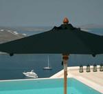 Milano/Sorrento circular replacement canopy, brand new, discontinued stock, frame and base not included - 13ft diameter (Sunbrella® black) - 4CA40C.308