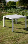 """Cayman square dining table 39"""", brand new, discontinued stock (arctic white frame and ash ceramic top) - 2CY10PH.02.800"""